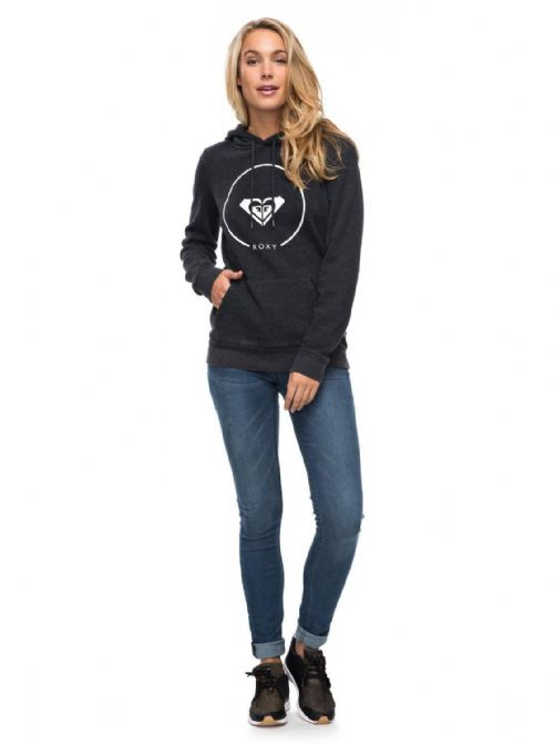 ROXY WOMENS HOODIE.AFTER SURF FLEECE BLACK HOODY HOODED JUMPER TOP 7W 3592 KVJH